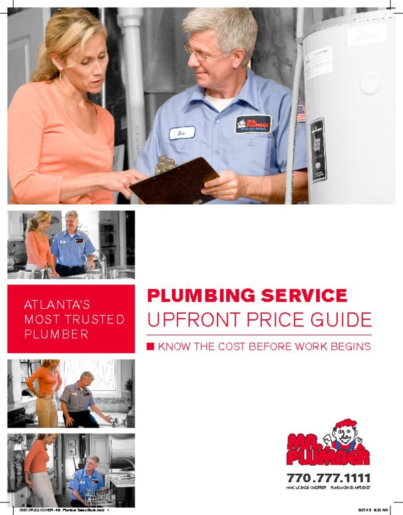 Mr Plumber Sales Book Cover Wrench Group
