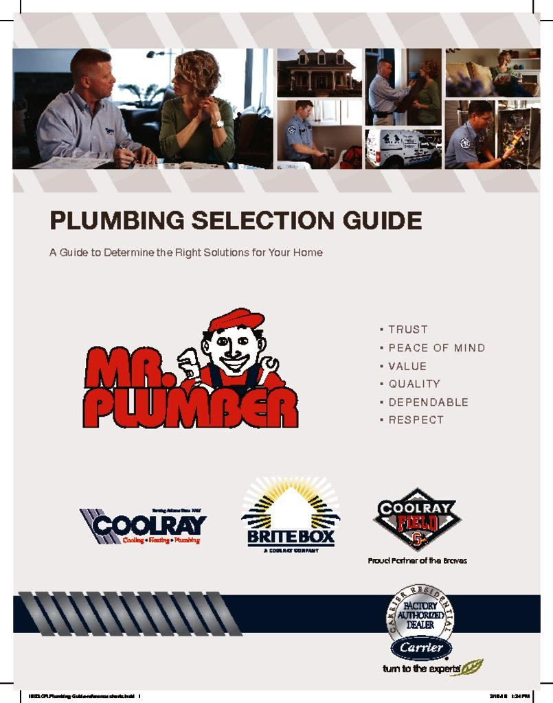 Mr  Plumber Plumbing Guide Reference Charts - Wrench Group