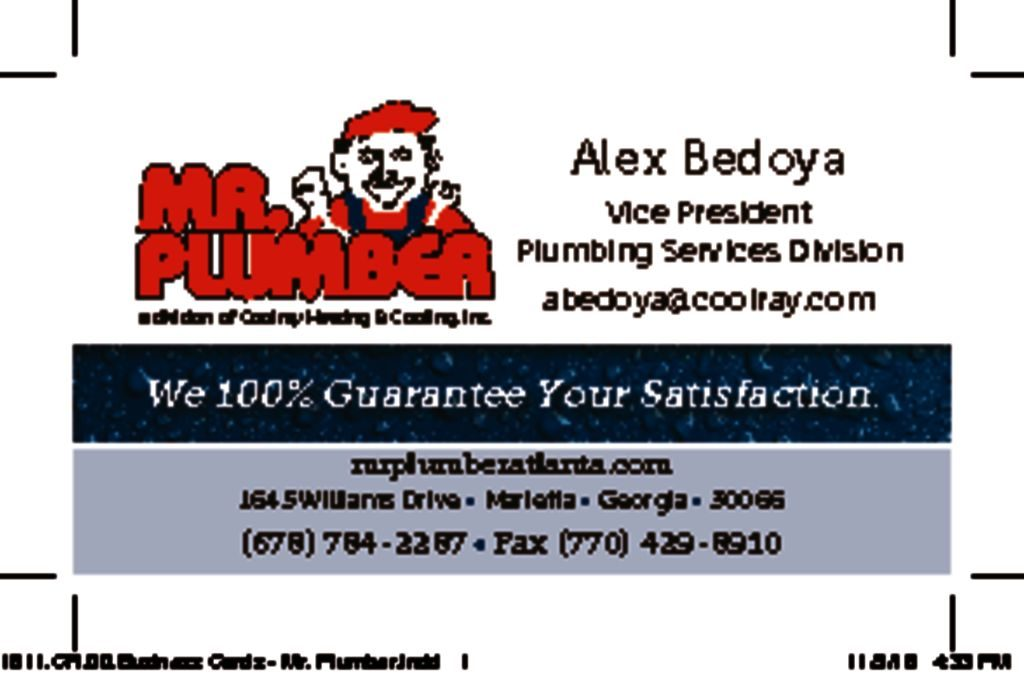 Mr Plumber Business Card Wrench Group