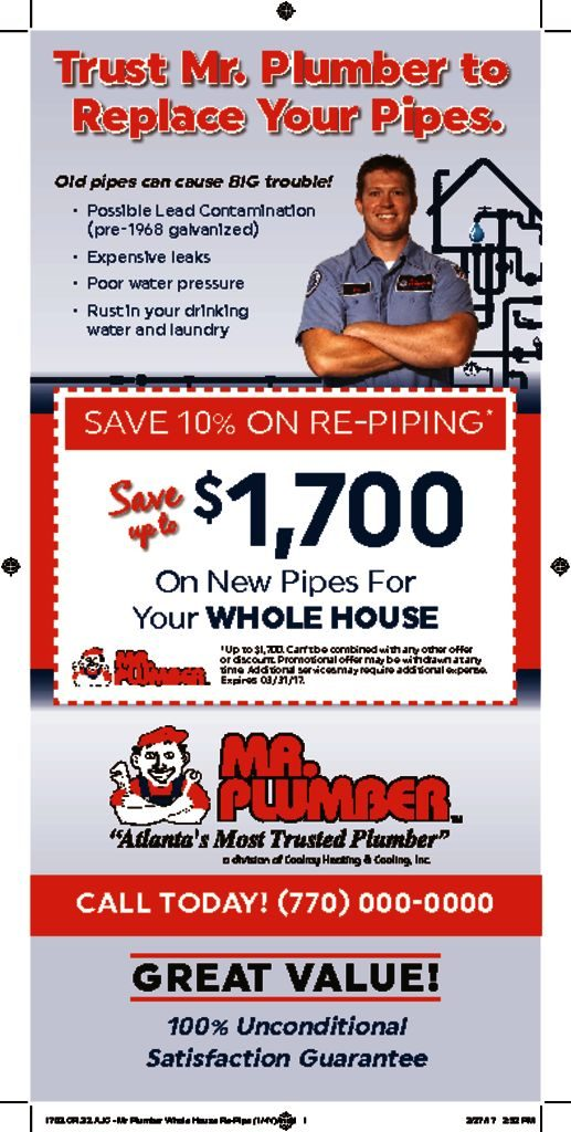 Mr Plumber Whole House Re Pipe All Sizes Wrench Group